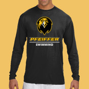 Swimming - N3165-PF A4 Long-Sleeve Cooling Performance Crew Neck T-Shirt