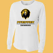 Swimming - NW3002-PF A4 Ladies' Long Sleeve Cooling Performance Crew Shirt
