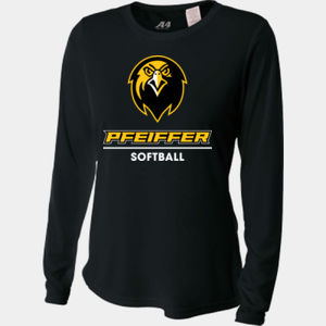 Softball - NW3002-PF A4 Ladies' Long Sleeve Cooling Performance Crew Shirt Thumbnail