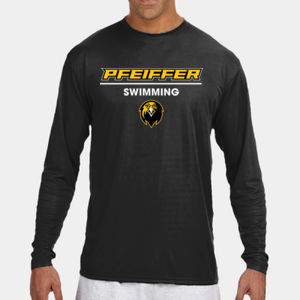 Swimming - N3165-PF A4 Long-Sleeve Cooling Performance Crew Neck T-Shirt Thumbnail