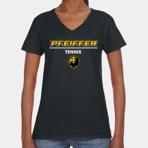 Tennis - 88VL-PF Anvil Ladies' Lightweight V-Neck T-Shirt Thumbnail